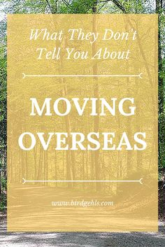 Moving overseas is not going to be easy. You have to take the good with the bad.