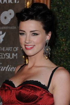 Actress and model Amber Heard ...classy american Hairstyles...
