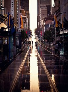 Love the Melbourne rain. In that way Melbourne and Göteborg is so alike! Brisbane, Melbourne Australia, Vic Australia, Oh The Places You'll Go, Places To Travel, Places To Visit, Tasmania, Beautiful World, Beautiful Places