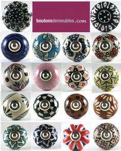 Bouton de meuble,Poignée de Meuble en Céramique,Bouton,Boutons De ...