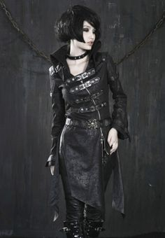 steampunk wear for women | PUNK RAVE STEAMPUNK MILITARY TRENCH COAT - PUNK/GOTHIC/BLACK/JACKET ...