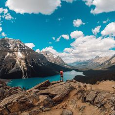 """""""Where would you love to go for #TravelTuesday? Anna Teachy was inspired to visit the beautiful #PeytoLake during her honeymoon. Share your travels with us…"""""""