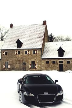 "mistergoodlife: ""R8 playing in the snow - Facebook """