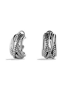 David Yurman Crossover Earrings - Silver