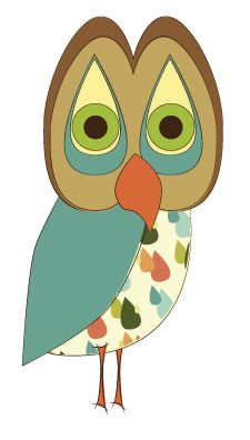 Day 375: Retro Raindrop Owl from owladay.wordpress.com