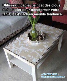 Relooker une table IKEA basique en meuble chic - tutoriel