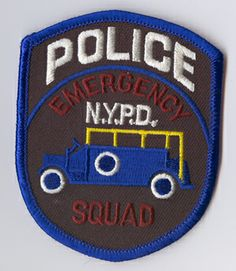 emergency service unit patch | New York City Police Dept. Emergency Squad
