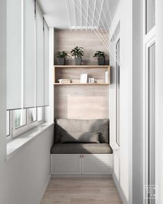 3 Modern Small Apartment Designs Under 50 Square Meters That Don't Sacrifice On Style [Includes Floor Plans] - apartment.club 3 Modern Small Apartment Designs Under 50 Square Meters That Don't Sacrifice On Style Modern Small Apartment Design, Small Balcony Design, Small Balcony Decor, Small Apartment Interior, Apartment Balcony Decorating, Apartment Living, Home Interior Design, Design Apartment, Interior Modern
