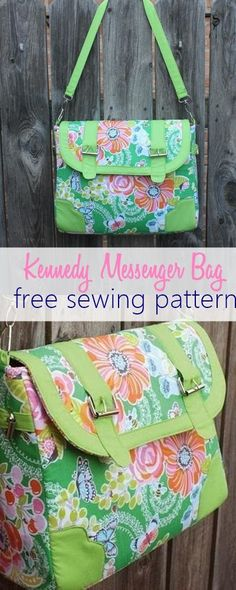 Kennedy Bag - free sewing pattern for a messenger bag More