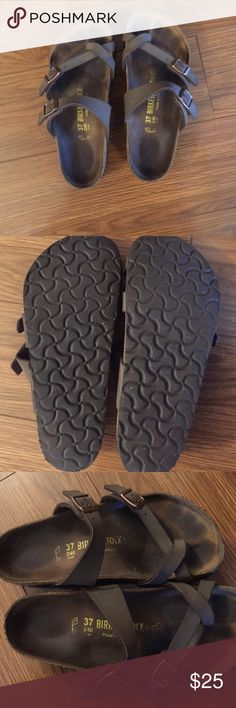 Birkenstock Mayari Sandals 1 year old Birkenstocks. (Worn about 5 times) mostly to work at an inside location. Tread and cork in good condition. Selling because too small. Birkenstocks, 1 Year Olds, Birkenstock Mayari, Cork, Shoes Sandals, Shop My, Times, Best Deals, Womens Fashion