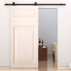 Features:  -All hardware for setting up the sliding barn door presentation included.  -Hardware only, door not included.  -Max door weight capacity: 198 lbs.  -Sturdy and stable equipment.  -Turn your
