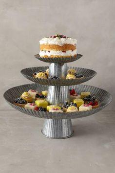 Galvanized Cake Stands - ANTHROPOLOGIE専門店 Precious Moments 安心の正規直輸入専門店~ 3.000円以上ご購入は送料無料でお届けしております~【ラッピング対応OK】