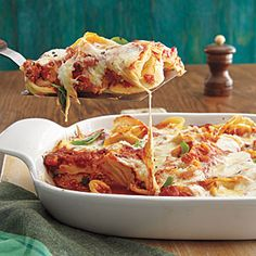 Baked Tortellini Recipe 1 pound frozen or refrigerated cheese tortellini 2 cups marinara 1/2 cup ricotta 1 cup shredded mozzarella 1/2 cup grated Parmesan 1 tablespoon sliced fresh basil