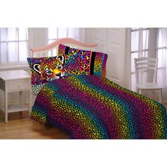 Make a colorful statement with the Wildside Microfiber Bedding Sheet Set by Lisa Frank . This daring sheet set coordinates with the matching comforter. King Sheets, Cheap Bed Sheets, Lisa Frank, Beds For Sale, Furniture Deals, Luxury Bedding Sets, Awesome Bedrooms, Bed Sizes, Flat Sheets