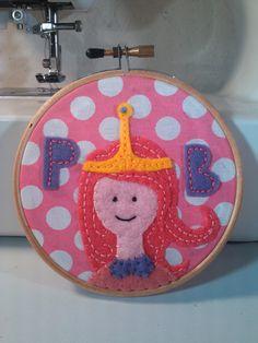 Adventure Time - Princess Bubblegum Embroidery Hoop. $22.00, via Etsy.