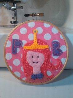 Adventure Time - Princess Bubblegum Embroidery Hoop. $22.00, via Etsy.