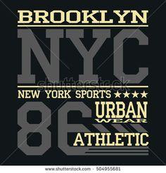 Athletic sport  typography, t-shirt graphics, Creative design, Vector.