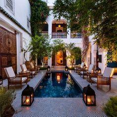 Gorgeous home courtyard