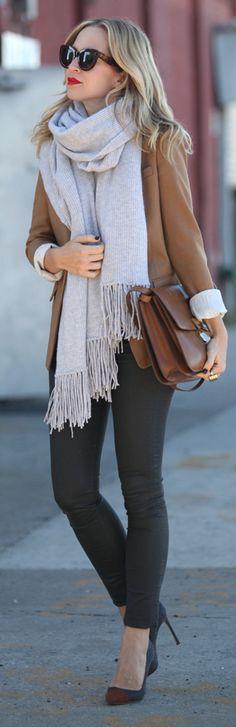 Camel Street Chic Women's Blazer by Brooklyn Blonde