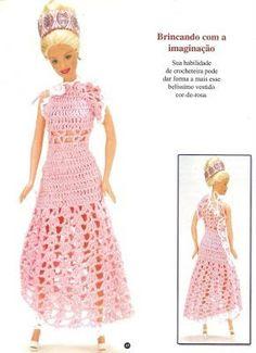 Vestidos a crochet Vestidos para barbie ,muchas amigas nos estuvieron pidiendo vestidos a crochet  para tejerles a las muñecas de sus hijas ...