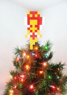 Zelda Fairy Perler Bead Christmas Tree Topper by LighterCases, $30.00