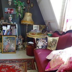 Home @ MOK STUDIO. Working space at the window side wall, covering, wall, Attic Library, Inspiration Wall, Vintage Furniture, Gallery Wall, Stationery, Greeting Cards, Window, Wall Decor, Space