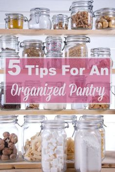 5 tips for an organized pantry, to save you time and money by finding what you need when you need it #ad