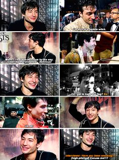 """Ezra Miller - """"Being part of the Harry Potter Universe is like getting into the most pleasant warm bath. And the bath is filled with bubble soaps of my childhood dreams."""""""