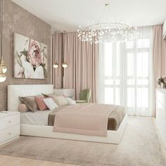 Bright Colorful Bedroom Decor IdeasYou can find Bedroom ideas master and more on our Bright Colorful Bedroom Decor Ideas Luxury Bedroom Design, Girl Bedroom Designs, Master Bedroom Design, Home Decor Bedroom, Bedroom Furniture, Bedroom Art, Master Suite, Interior Design, Stylish Bedroom