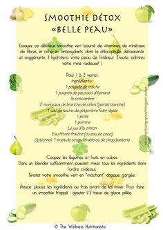 The Wellness Nutritionista - Smoothie Détox Belle Peau Recette de green smoothie (smoothie vert)
