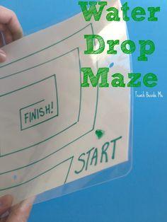 Water Drop Maze- fast, easy, fun game for kids School Age Activities, Steam Activities, Science Activities, Math Games, Activities For Kids, Preschool Science, Preschool Weather, Science Centers, Classroom Games
