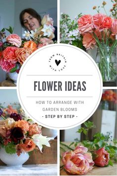 Click through for inspring and simple sustainable spring flower arrangement ideas using blossom, tulips & ranunculus from an english country cutting garden Creative Flower Arrangements, Spring Flower Arrangements, Beautiful Flower Arrangements, Floral Arrangements, Floral Centerpieces, Seasonal Flowers, Simple Flowers, Love Flowers, Spring Flowers