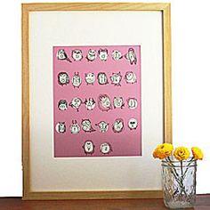 Christening Gifts For Boys, Nursery Art, Wall Prints, Calendar, Fine Art, Holiday Decor, Pink, Life Planner, Visual Arts