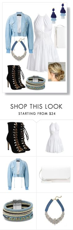 """Summer boots"" by abisamlesage ❤ liked on Polyvore featuring Alaïa, Balmain, Design Lab, BaubleBar and Oscar de la Renta"