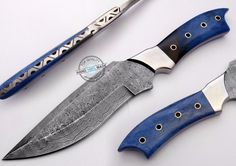 "12.00"" Custom Hand Made Beautiful Damascus Steel hunting Knife (897-1) #UltimateWarrior"