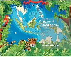 inch Photo Puzzle with 252 pieces. (other products available) - Cartoon map of Indonesia - Image supplied by Fine Art Storehouse - Jigsaw Puzzle made in the USA Fine Art Prints, Framed Prints, Canvas Prints, Free Illustrations, Illustration Art, Poster Size Prints, Fine Art Paper, Photo Greeting Cards, Vintage Posters