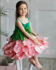 Trendy Dress For Kids Sewing Flower Costume, Fancy Dress For Kids, Kids Frocks, Fairy Dress, Fantasy Dress, Baby Costumes, Little Girl Dresses, Sewing For Kids, Flower Dresses
