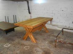Κάντε click για μεγέθυνση Picnic Table, Tables, Furniture, Home Decor, Mesas, Table, Interior Design, Home Interior Design, Arredamento