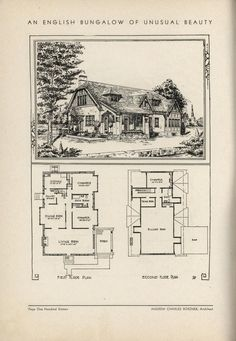 An English Bungalow Of Unusual Beauty by Architect Andrew Charles Borzner.    The book of beautiful homes. by Andrew C. Borzner Published 1932    BookReaderImages.php (1213×1755)
