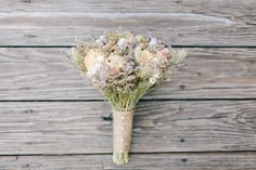 Look at this lovely dried flower bouquet.