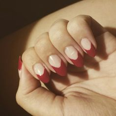 #red #french #manicure #nailart