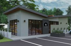 Modern Prefab Retail – Houston, TX Fire Rated Steel Building System; Commercial grade architectural components ensure decades of durable use. Insulated steel roof and wall panels provide superior insulation values to keep interiors cool while roasting coffee in extreme heat during the Summer months. With UL Rated Assemblies, we are able to provide fast and… Read More