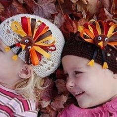 Hair Clippie Tutorials | Learn how to make an adorable turkey hairbow for a headband or hat in ...