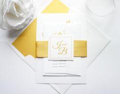 Gold Wedding Invitation - SAMPLE SET