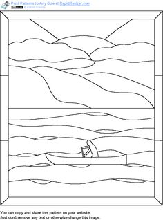 Free Twilight Canoeing pattern. Get it and more free designs at http://Online.RapidResizer.com/patterns.php