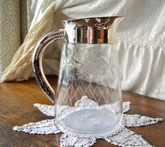 Vintage Silver Plate Water Pitcher by cynthiasattic on Etsy, $35.00