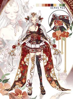 Kawaii art · kawaii anime · anime dress · [auction] adopt september 03 ::closed:: by rurucha character sketches, Fantasy Character Design, Character Design Inspiration, Character Art, Anime Art Girl, Manga Art, 1 Gif, Character Sketches, Anime Costumes, Kawaii Art