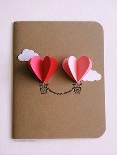¡Tarjetita con corazones! #SanValentín #ValentinesDay #card #hearts