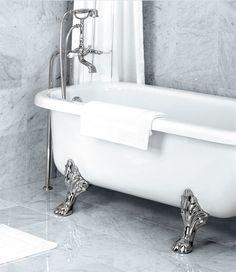 Vintage tub, modern tile