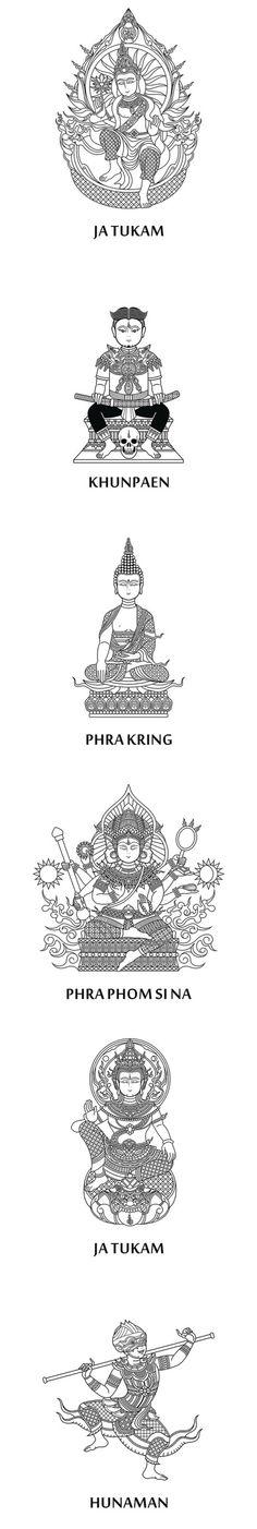 Thai Buddha Cross